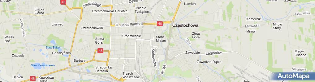 Zdjęcie satelitarne Firma Handlowa Delicja Mariola Figzał