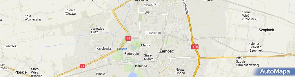 Zdjęcie satelitarne Firma Handlowa Farbacol Dariusz Zbyryt