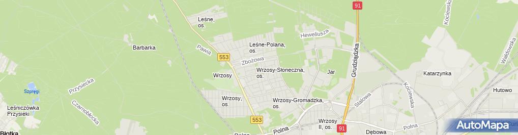 Zdjęcie satelitarne Firma Handlowa Henryk Majewski Henryk Rudzka Teresa