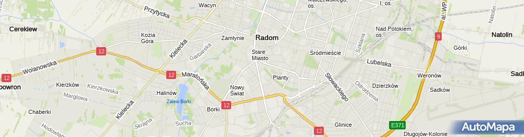 Zdjęcie satelitarne Firma Handlowa Jareks