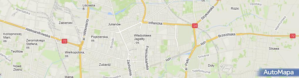 Zdjęcie satelitarne Firma Handlowa Kaźmierczak i Spółka Piotr Chrobot Marzena Kolasa