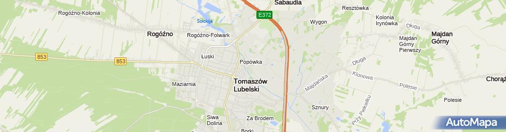 Zdjęcie satelitarne Firma Handlowa M Semak Andrzej