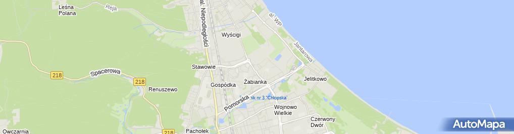Zdjęcie satelitarne Firma Handlowa Zientex
