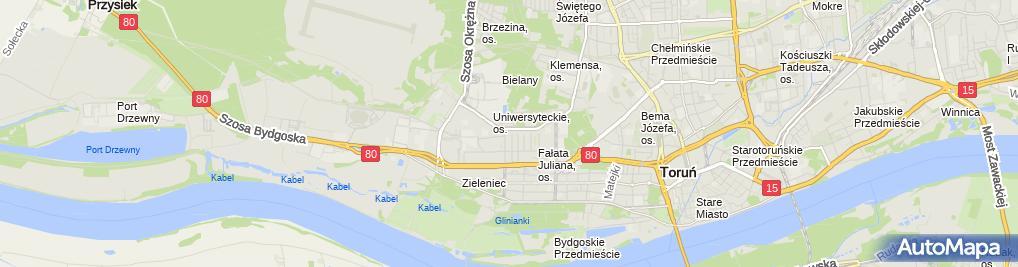 Zdjęcie satelitarne Firma Handlowa Żuchowska Polak Marzena