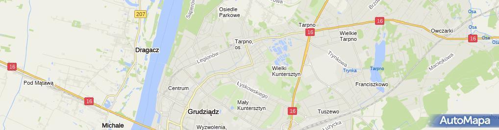 Zdjęcie satelitarne Firma Handlowo Produkcyjna Domena Podliński Brokowski