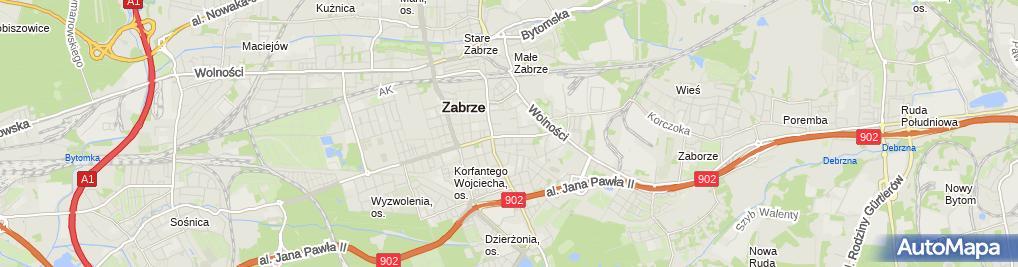 Zdjęcie satelitarne Firma Handlowo-Usługowa ''Gaweł'', Waldemar Gaweł