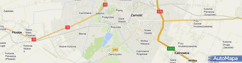 Zdjęcie satelitarne Firma Handlowo-Usługowa Aga