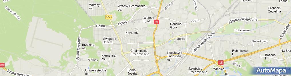 Zdjęcie satelitarne Firma Handlowo Usługowa Arsell