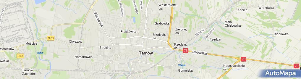 Zdjęcie satelitarne Firma Handlowo Usługowa Blue Cafe