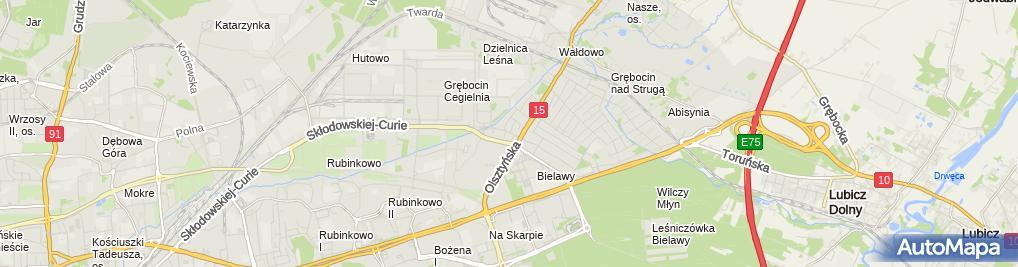 Zdjęcie satelitarne Firma Handlowo Usługowa Ewa Sikorska Ewa