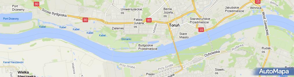 Zdjęcie satelitarne Firma Handlowo Usługowa G.O.- Rozynek Rozynek Wojciech