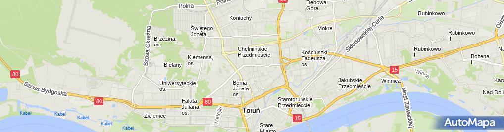 Zdjęcie satelitarne Firma Handlowo-Usługowa Genowefa Słowińska