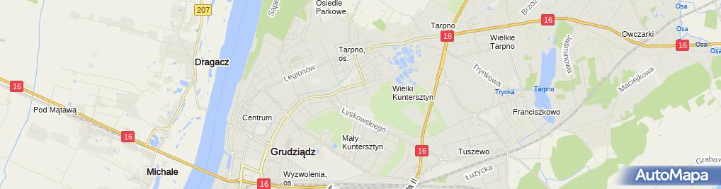 Zdjęcie satelitarne Firma Handlowo Usługowa Hit Grabski Mariusz Zdziebłowski Zbigniew