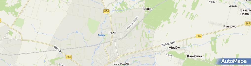 Zdjęcie satelitarne Firma Handlowo Usługowa Hurt Detal