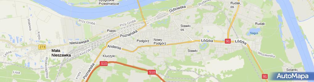 Zdjęcie satelitarne Firma Handlowo Usługowa Iga