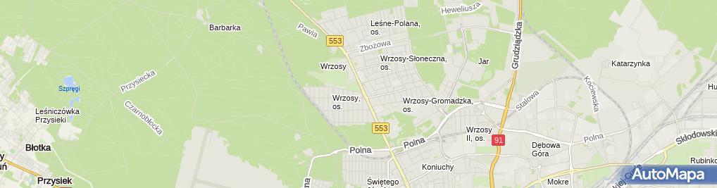 Zdjęcie satelitarne Firma Handlowo Usługowa J&K Kamil Jarlak