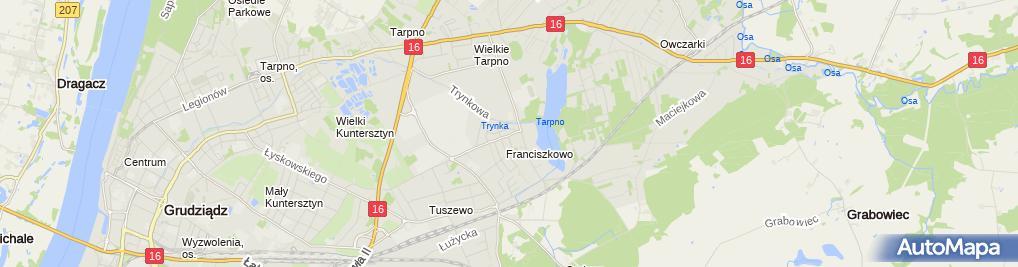 Zdjęcie satelitarne Firma Handlowo Usługowa Kami