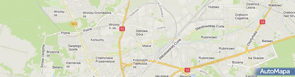 Zdjęcie satelitarne Firma Handlowo - Usługowa Małgośka Małgorzata Jakubiak
