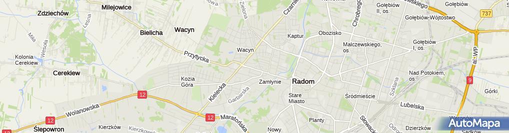 Zdjęcie satelitarne Firma Handlowo Usługowa Mirgaz Mirosław Kacprzyk