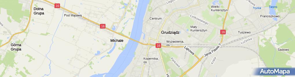 Zdjęcie satelitarne Firma Handlowo - Usługowa Na Każdą Okazję Małgorzata Kuźnik