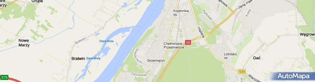 Zdjęcie satelitarne Firma Handlowo Usługowa Naj