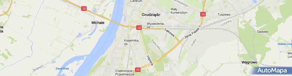 Zdjęcie satelitarne Firma Handlowo Usługowa Nowicka