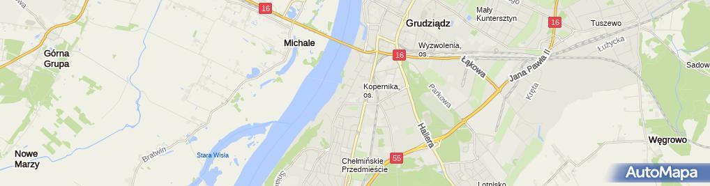 Zdjęcie satelitarne Firma Handlowo Usługowa Pik