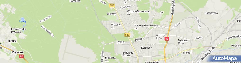 Zdjęcie satelitarne Firma Handlowo Usługowa Piotrans