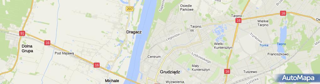 Zdjęcie satelitarne Firma Handlowo Usługowa Piramida Knors Zbigniew Czołpińska Maria