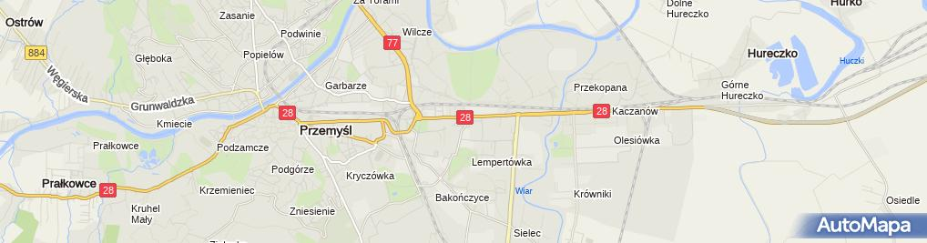 """Zdjęcie satelitarne Firma Handlowo-Usługowa """"Pracownia"""" Katarzyna Przednowek"""
