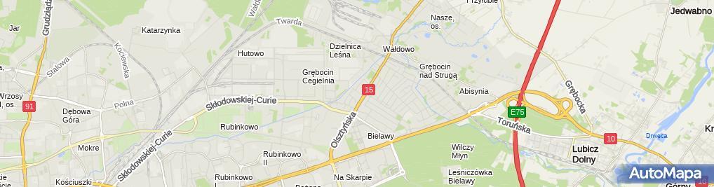 Zdjęcie satelitarne Firma Handlowo Usługowa Robert Murawski Robert