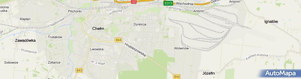 Zdjęcie satelitarne Firma Handlowo Usługowa SJM