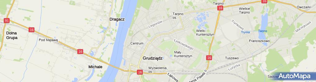 Zdjęcie satelitarne Firma Handlowo - Usługowa Sławtrans - Sławomir Napiórkowski