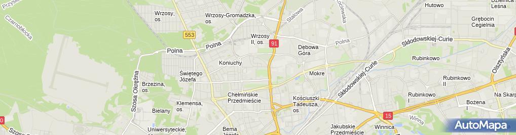 Zdjęcie satelitarne Firma Handlowo Usługowa Symbol Wiśniewska Małgorzata Czaja Krzysztof