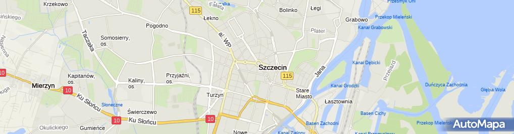 Zdjęcie satelitarne Firma Handlowo Usługowa SZ & K Kamińska Danuta Małgorzata