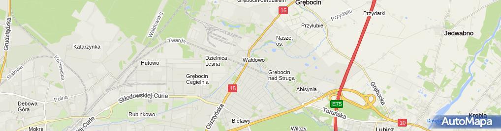 Zdjęcie satelitarne Firma Handlowo Usługowa Tomex Tomasz Gołębiewski