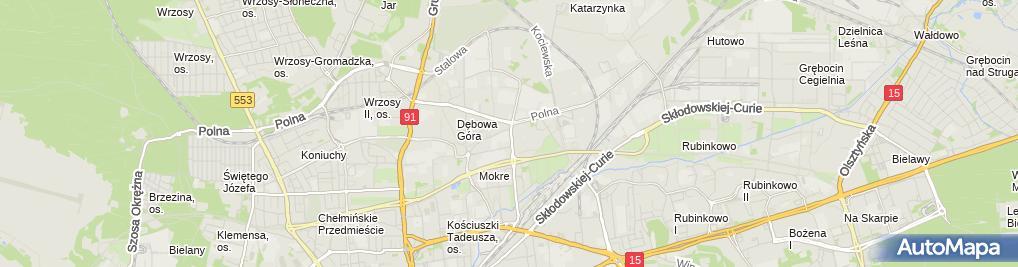 Zdjęcie satelitarne Firma Handlowo Usługowa Urbański Urbański Marcin