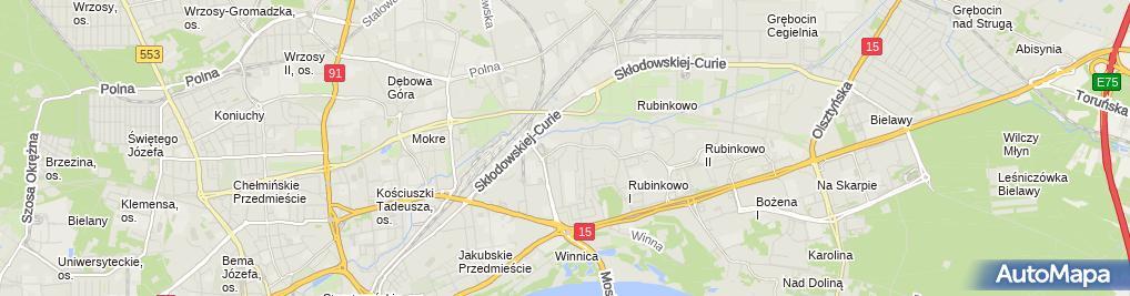 Zdjęcie satelitarne Firma Handlowo-Usługowa Wojciech Gerc