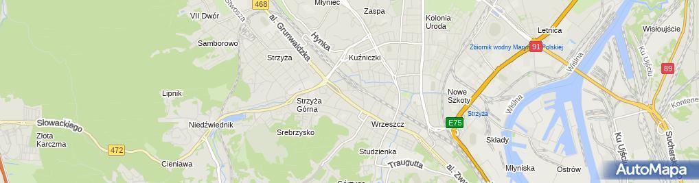Zdjęcie satelitarne Firma Handlowo Usługowo Produkcyjna Milczanowscy Daniel i Małgorzata