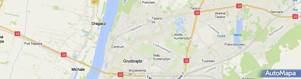 Zdjęcie satelitarne Firma Jedynak Ryszard Piasecki