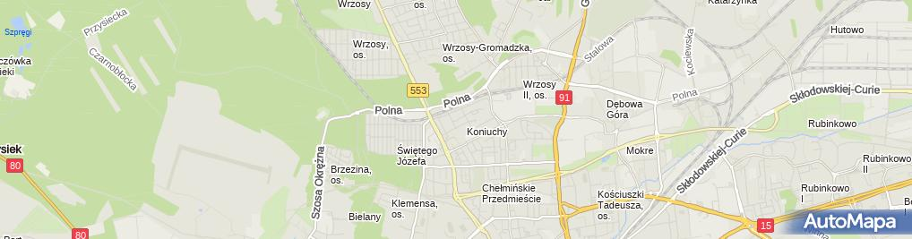 Zdjęcie satelitarne Firma Marys Ryszard Mikołajek Mariusz Mikołajek