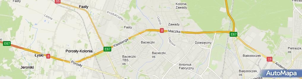 Zdjęcie satelitarne Firma Maxer Kossowski Robert Marcin w Białymstoku