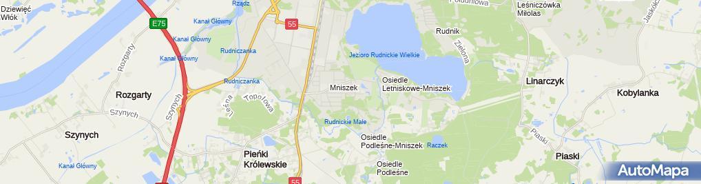 Zdjęcie satelitarne Firma Produkcyjno - Handlowa Kandela Zbigniew Kamiński