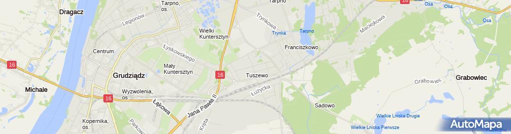 Zdjęcie satelitarne Firma Produkcyjno - Handlowo - Usługowa Dekor Wojciech Wieczorek