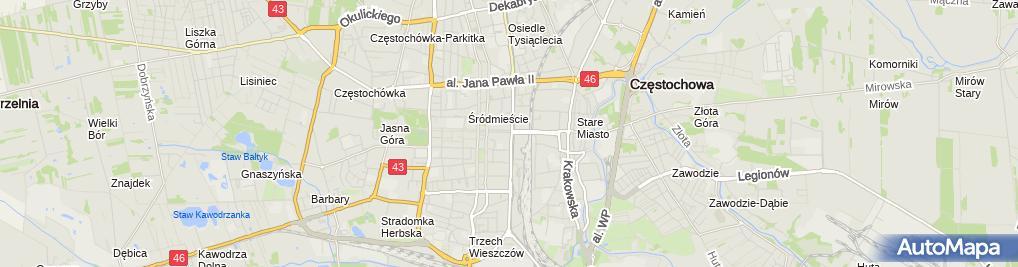 Zdjęcie satelitarne Firma Produkcyjno-Usługowo-Handlowa Amco Arkadiusz Skoczek