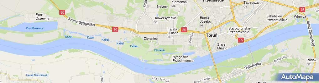 Zdjęcie satelitarne Firma Projektowo Usługowa Jolmet Zakrzewski Mieczysław