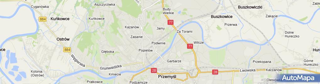 """Zdjęcie satelitarne Firma Projektowo Usługowa """"Madral"""" Marek Drozd"""