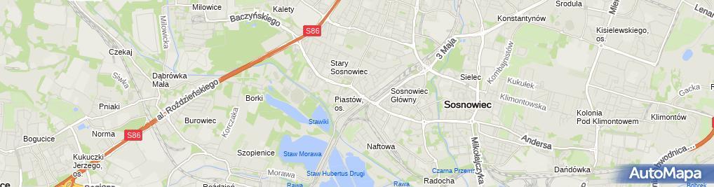 Zdjęcie satelitarne Firma Przewozowo Transportowa Mer Trans Leszczyńska Elżbieta Jagoda Zygmunt