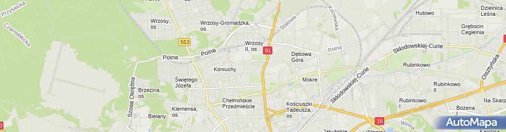 Zdjęcie satelitarne Firma Transportowa Miran