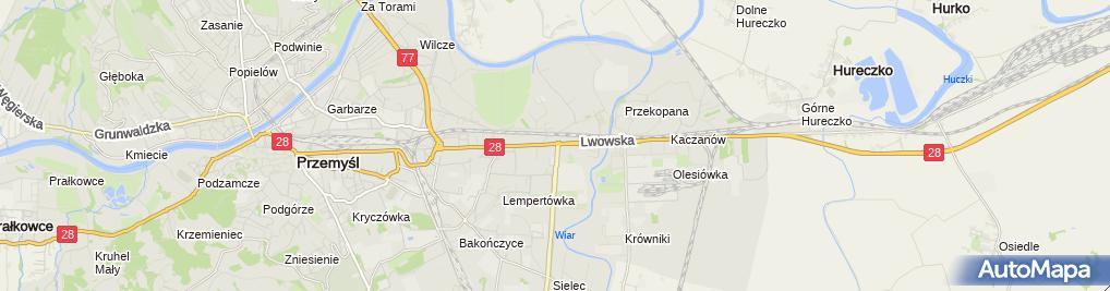 Zdjęcie satelitarne Firma Transportowo Usługowa